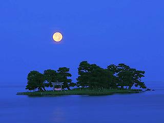 「月のある風景」 8月25日 (島根県松江市ほか)